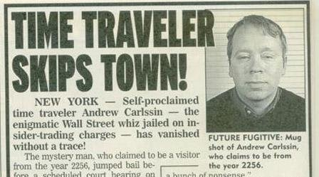 Andrew Carlssinwwn time traveller