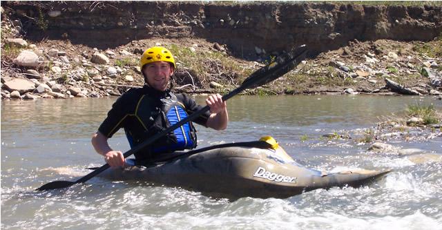 Jeff Milner kayaking Belly River