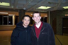 George Stroumboulopoulos and Jeff Milner