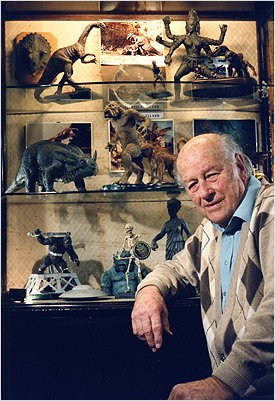 Ray Harryhausen and his Armatures