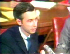Mr. Rogers before Senator Hearing