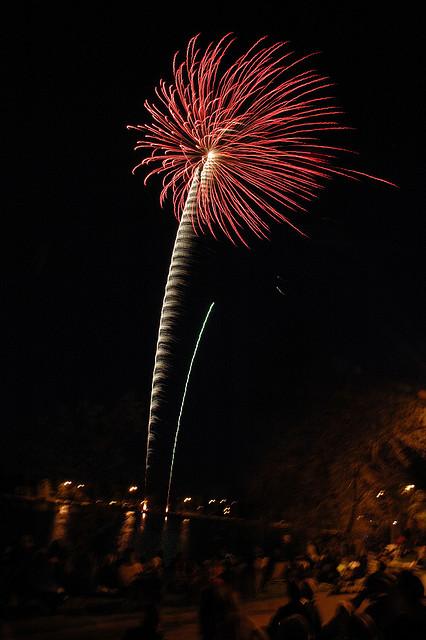 Fireworks at Henderson Lake