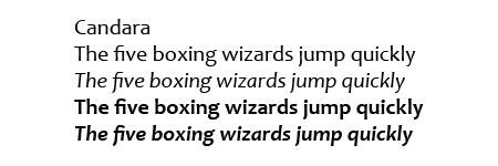 Candara font sample