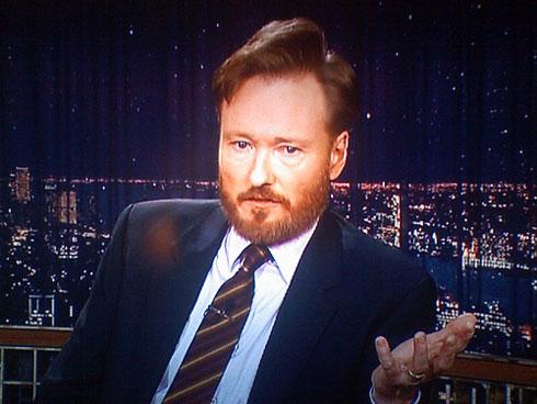 Conan sporting a beard