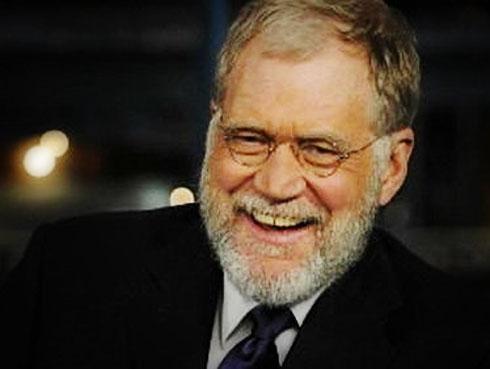 Letterman sports a beard