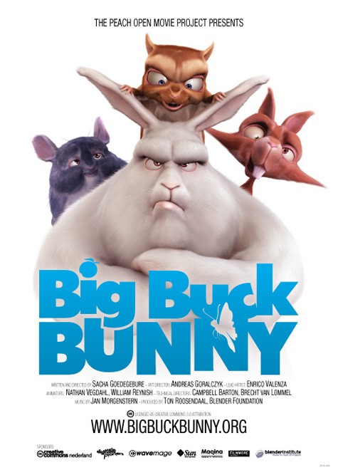 Big Buck Bunny Movie Poster