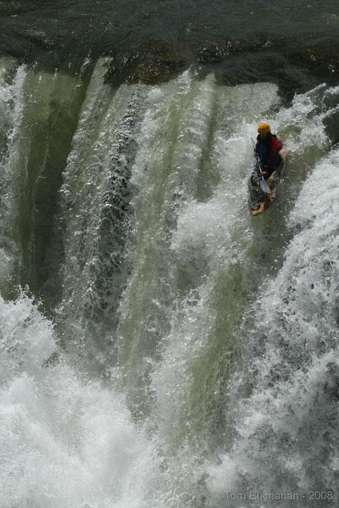 Jeff Milner Running Lundbreck Falls