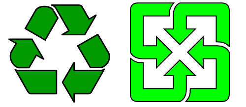 Negative Space in Taiwan's Recycling Logo – jeffmilner.com