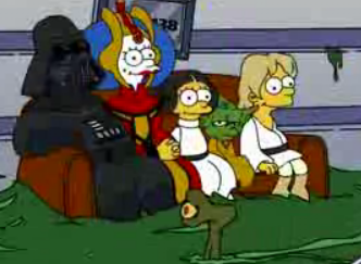 Simpsons as the Star Wars Characters
