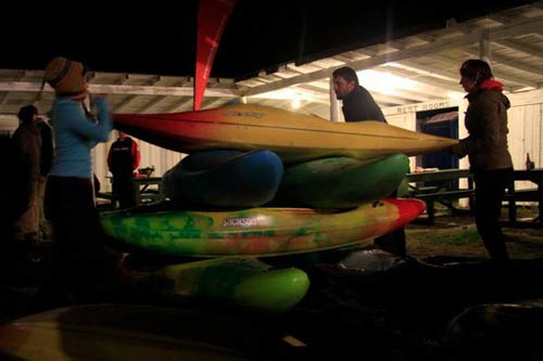 kayaking stacking competition