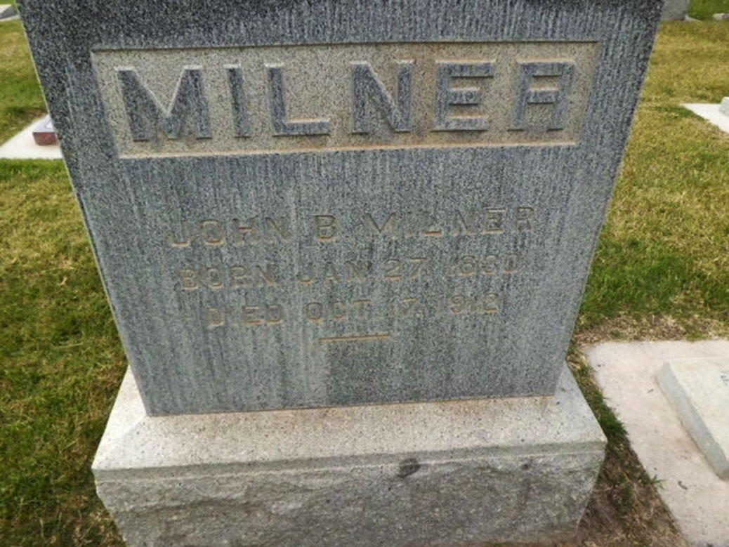 John Brewitt Milner's Grave