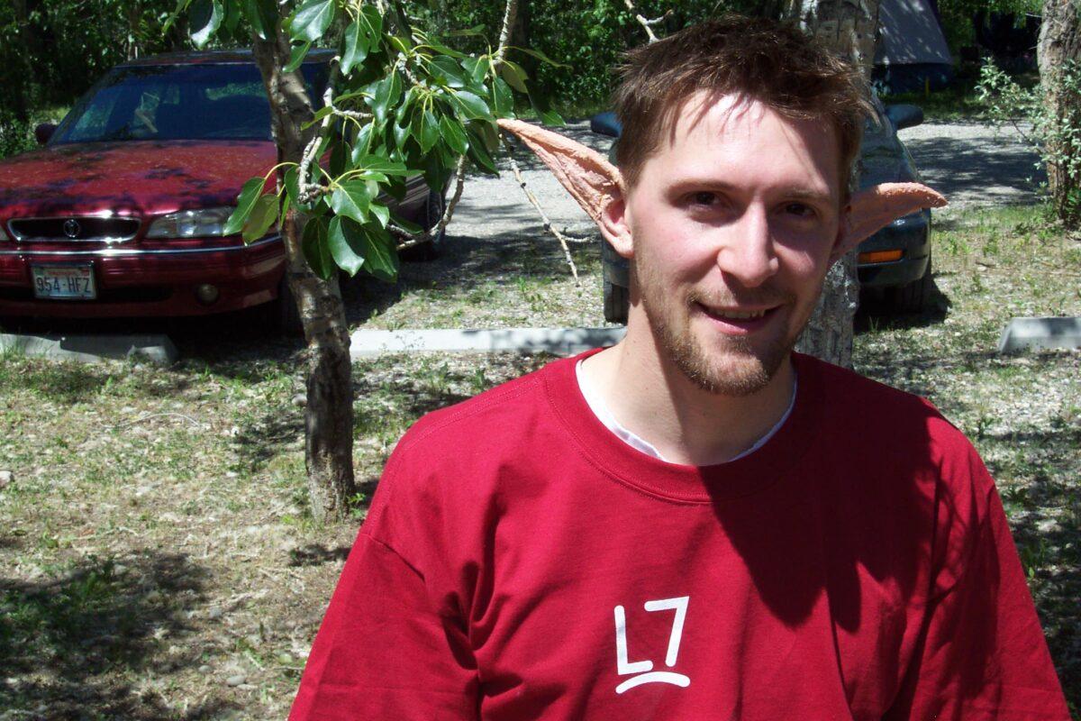 Jeff Milner with latex elf ears