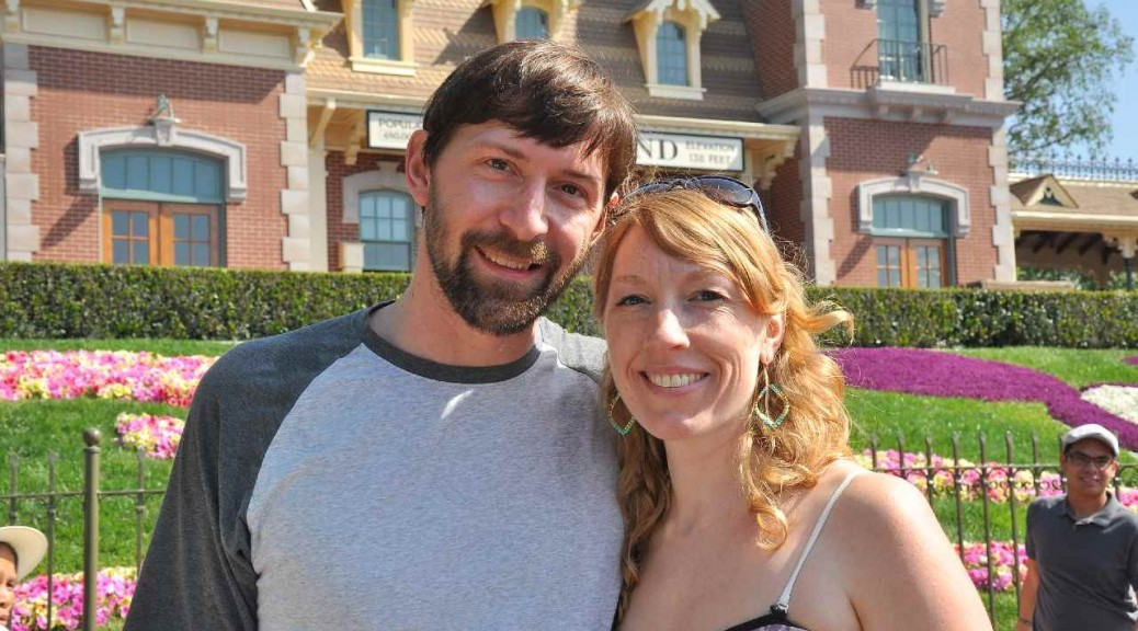 Jeff and Andrea in Disneyland