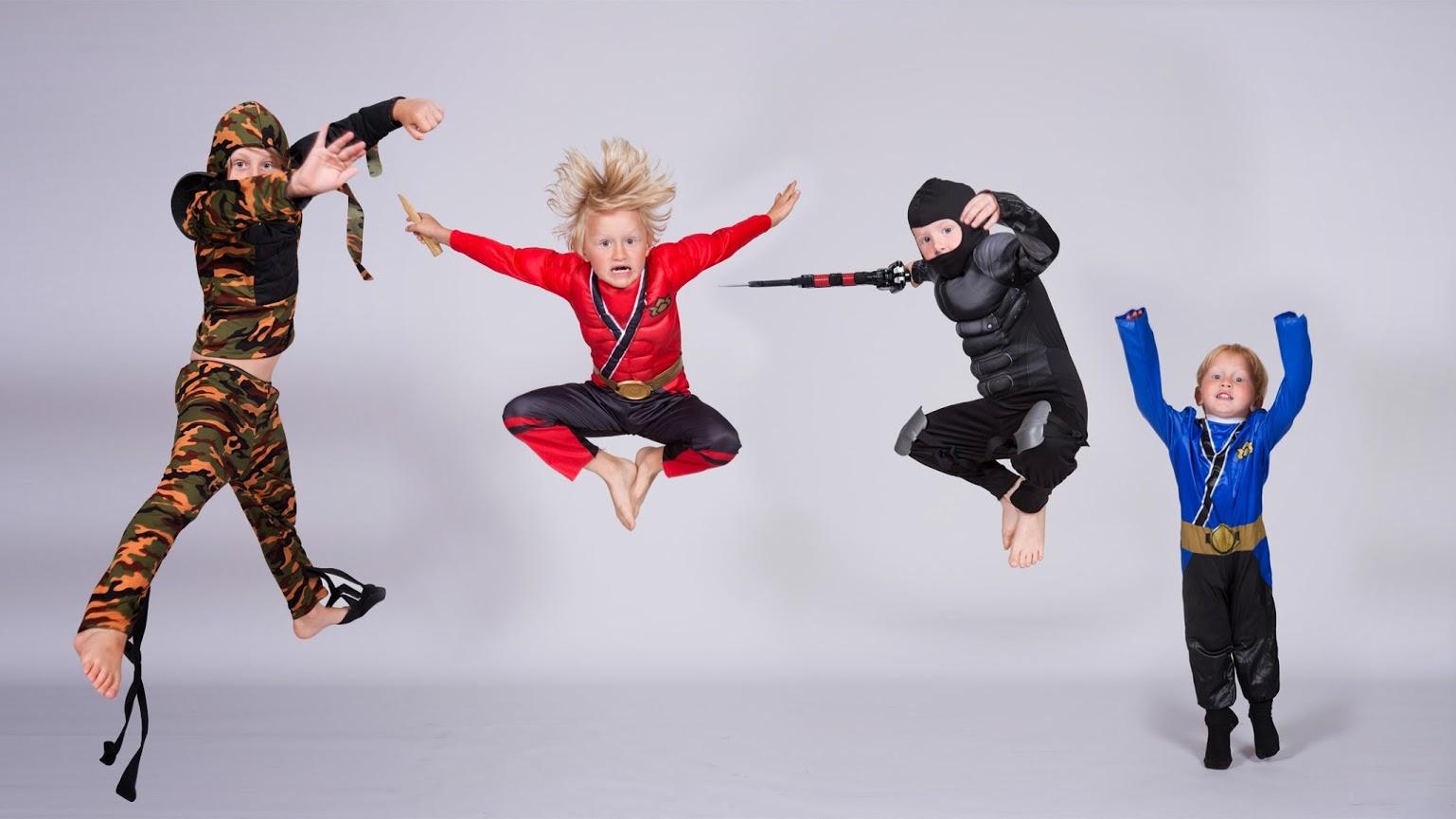 4 boys jumping