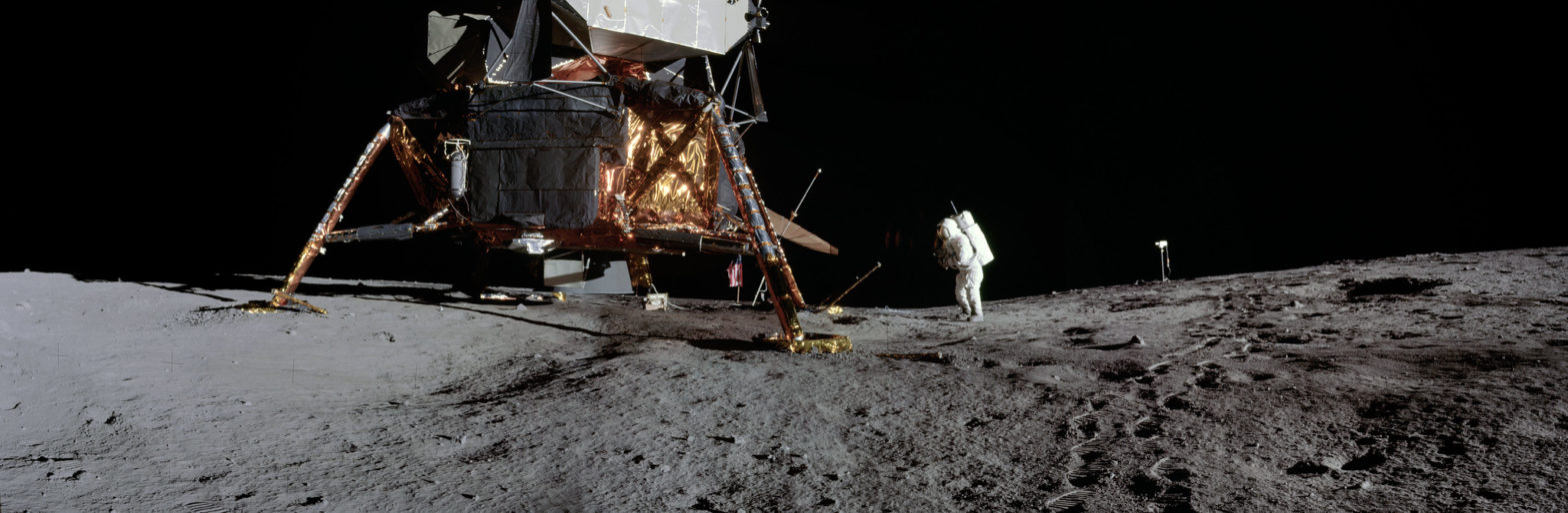 Neil Armstrong and Moon Lander
