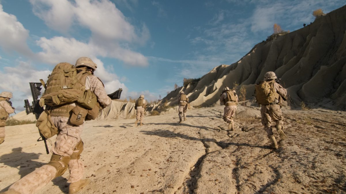 Afghanistan Soldiers running